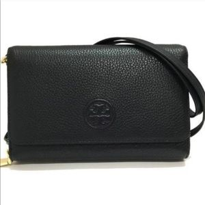 Tory Burch 💯authentic Bombe Flat Wallet Crossbody